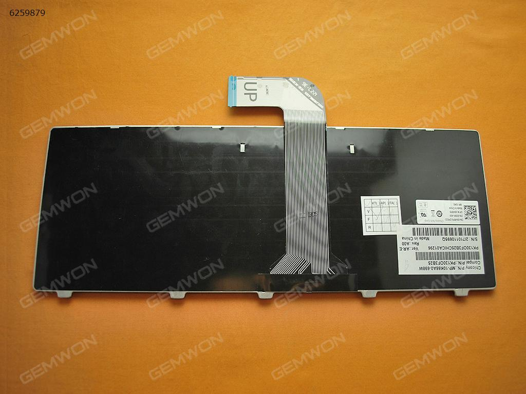DELL Vostro 3550/XPS L502/New Inspiron 14R/Inspiron N4110 M4110 N4050 M4040 N5050 M5050 M5040 N5040 N411Z BLACK FRAME BLACK ( Win8 ) BR N/A Laptop Keyboard