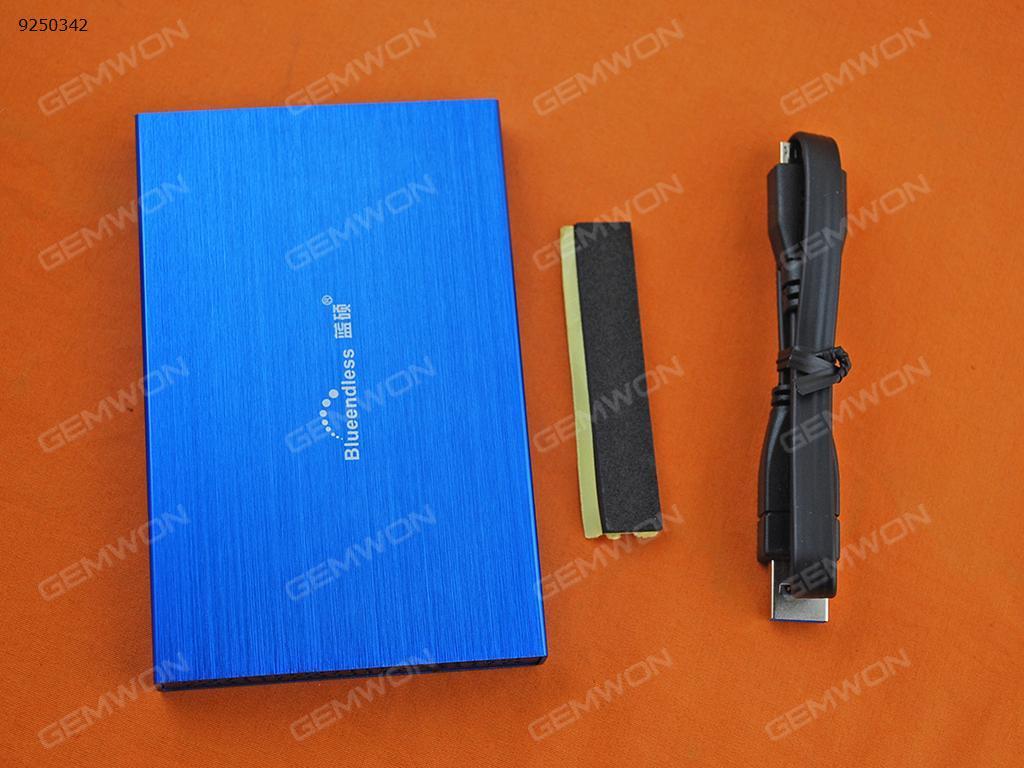 """Lan Shuo 2.5"""" SATA USB 3.0 HDD case Blue Mobile Storage N/A"""