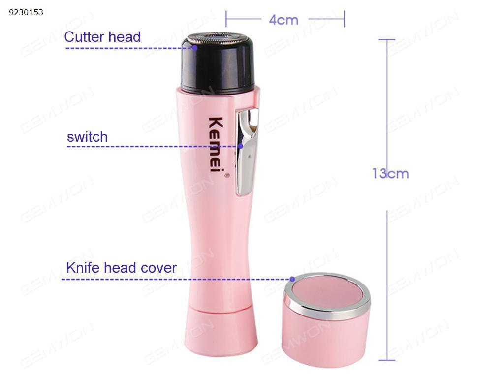 Mini lady razor, electric shaver, face / legs / hand / bikini / armpit hair epilator and razor Other KM-1012