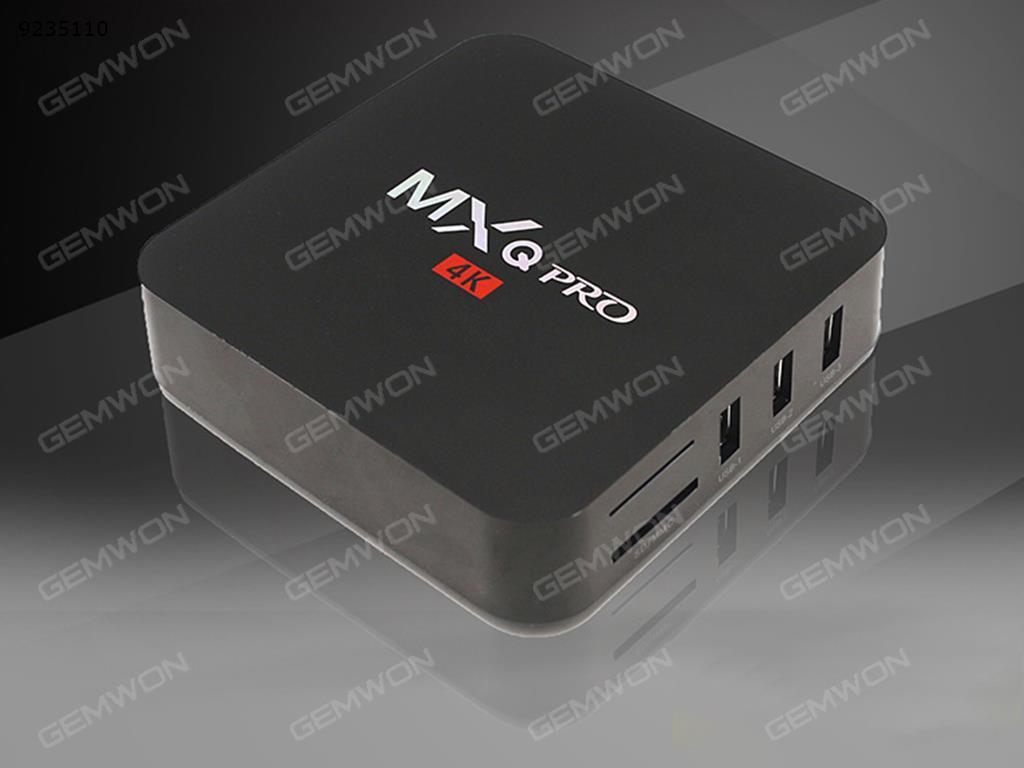 MXQ PRO Android 6.0 TV BOX 4K Quad Core. Amlogic S905X.HD 1080p WIFI HDMI ,DDRIII 1GB Nand Flash 8GB.BLACK ,US Smart TV Box MXQ PRO