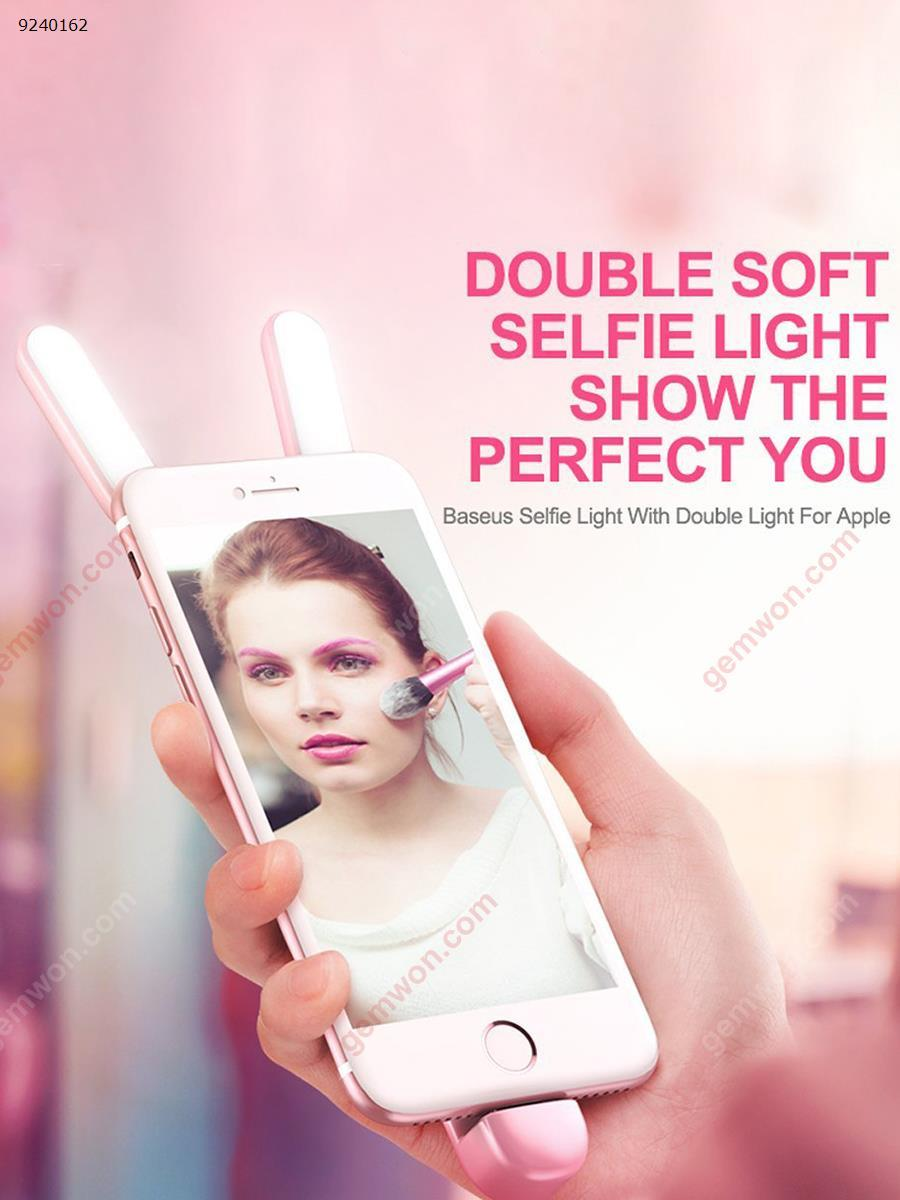 LED beauty mobile phone holder fill light(WRXS-001)do not charge, multi-angle use, you can do mobile phone bracket Selfie artifact  Pink Electronic Digital WRXS-001