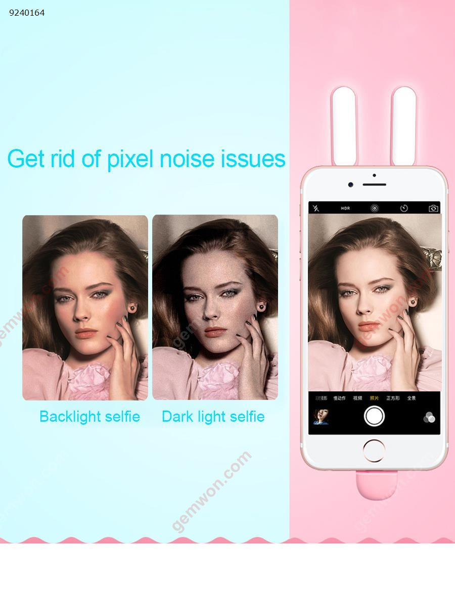 LED beauty mobile phone holder fill light(WRXS-001)do not charge, multi-angle use, you can do mobile phone bracket Selfie artifact Pink blue Electronic Digital WRXS-001