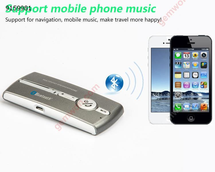 Car Sun Visor Wireless Bluetooth Hands-free Speakerphone Loud Connection Multipoint Bluetooth Hands Free Bluetooth Car Kit Car Appliances E02