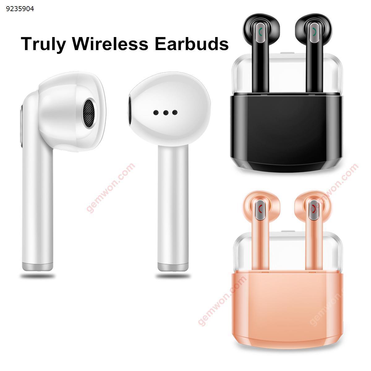 TWS Mini Portable Dual Wireless Bluetoothe Earphones Headphones with Charging Box(white) Headset N/A