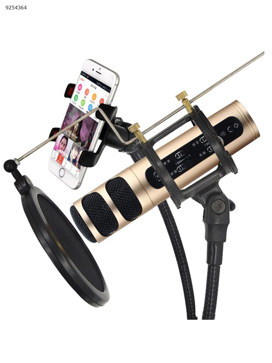 2 in 1 phone bracket with microphone stand self-timer for live broadcast Mobile Phone Mounts & Stands N/A