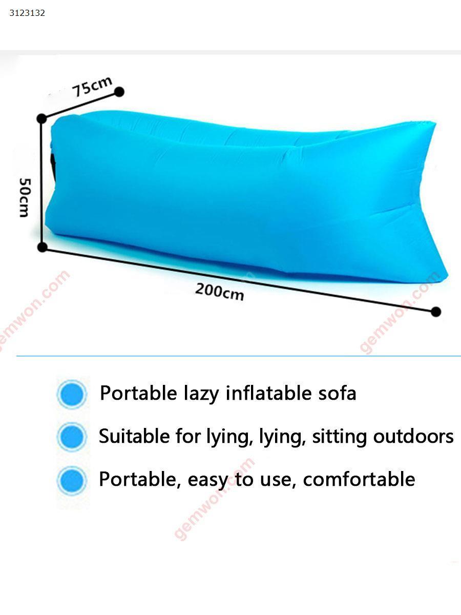 Inflatable sofa sleep recliner / air sofa / air bed outdoor camping waterproof, portable, fast inflatable nylon beach, camping, outdoor (blue) Outdoor backpack WD