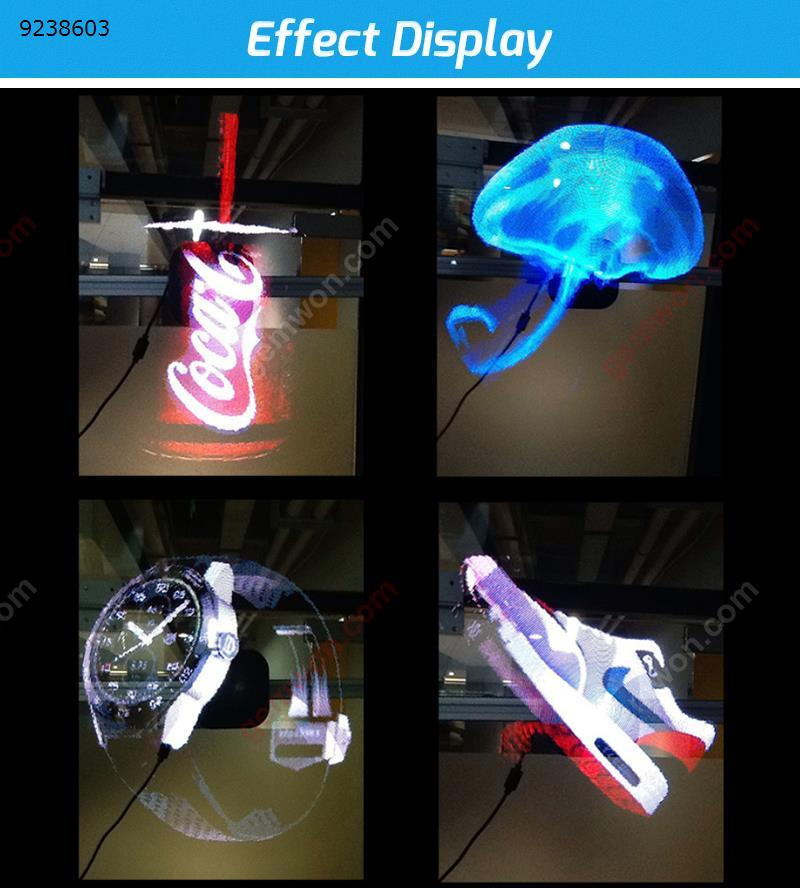 Portable LED holographic projector 3D holographic display fan holographic player Projector HR-AD01