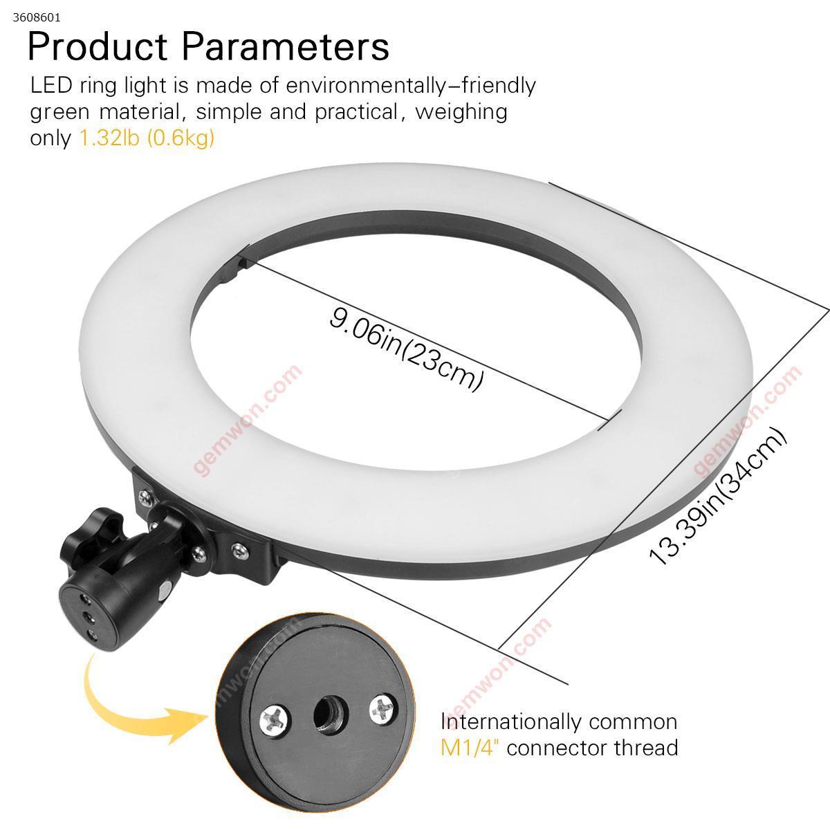 "14"" LED Video Photo Ring Light RGBW Colors Lamp   DSLR Camera for Smart phones Professional Studio black LED String Light K88"