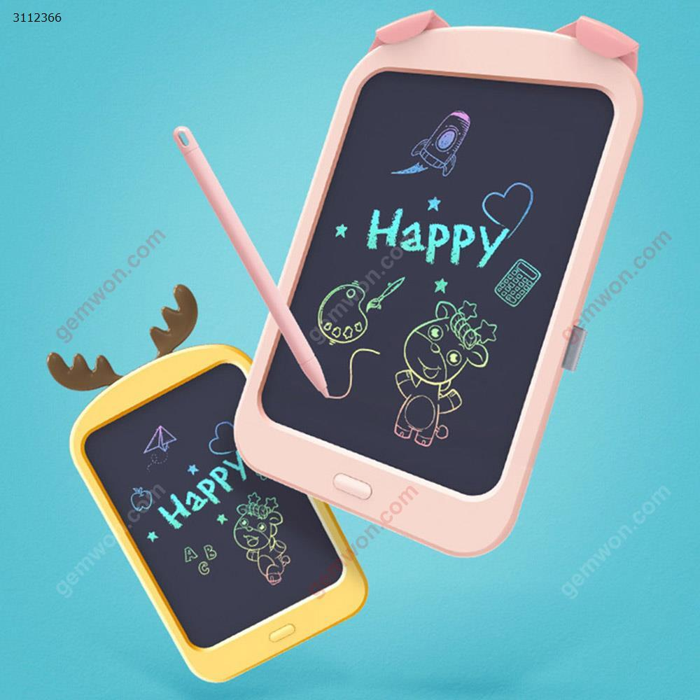 8.8 inches Intelligent writing LCD handwriting board, graffiti painting toy color board drawing board,yellow LCD Writing Board 8.8 inches LCD graffiti board