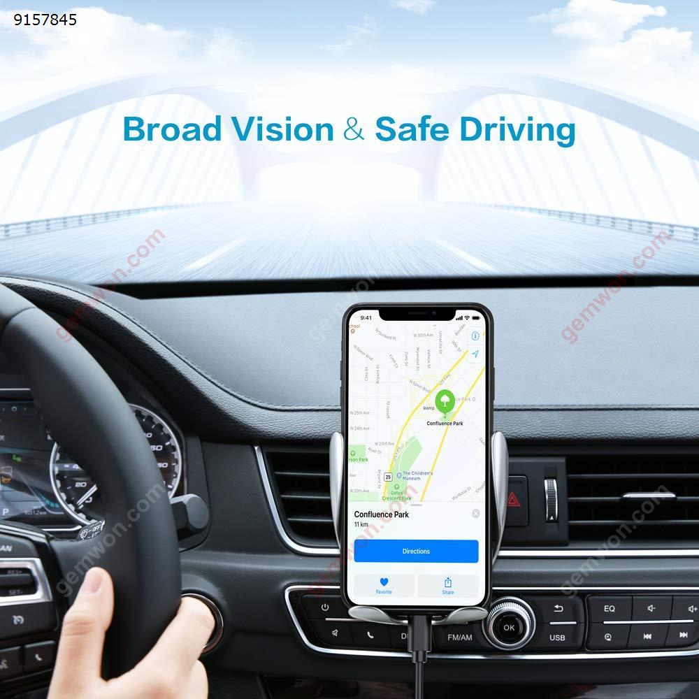 10W Automatic Wireless Car Charger Qi Fast Charging Mount Bracket For iPhone XS XR X 8 Samsung S10 S9 S8 HUAWEI Mate 20 RS / Mate 20 Pro  P30pro Air Vent Phone Holder Car Appliances QQNH-PXD