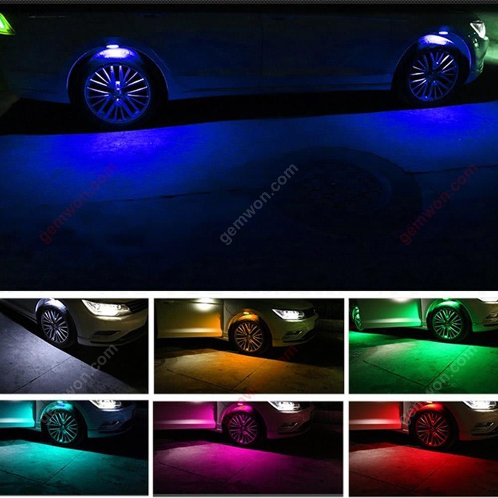 4pcs Car wheel eyebrow LED daytime running light wheel decoration light atmosphere light wheel atmosphere light Autocar Decorations GJ