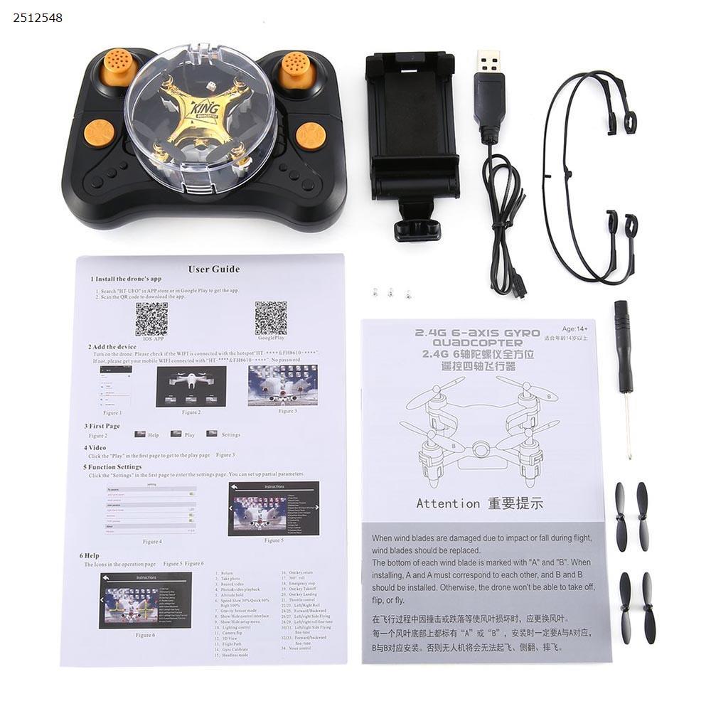 CF-922 Mini Drone 2.4G 4CH 6-Axis 3D Flip Headless Mode Mini Racing Drone Aircraft Children Toy For Boys  Gold Drone CF-922