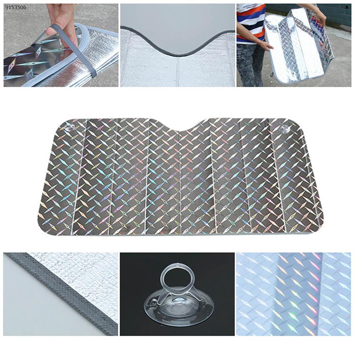 Car Fold Windshield Front Rear Window Car Styling Side Window Sunshades Accessories Supplies(130*60cm) Autocar Decorations R-3920