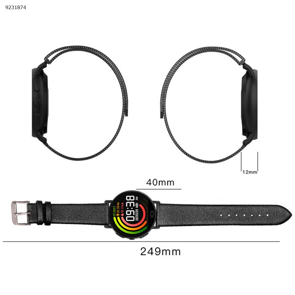All metal bracelet T7 business fashion watch men and women smart bracelet heart rate monitoring reminder(All metal black) Smart Wear TLWT7