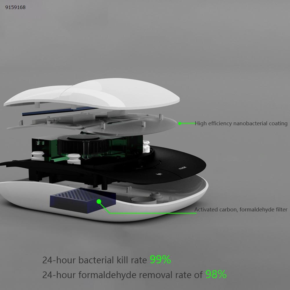 Smart car appliance multi-function air purifier solar negative ion aromatherapy machine (Black) Car Appliances C-01