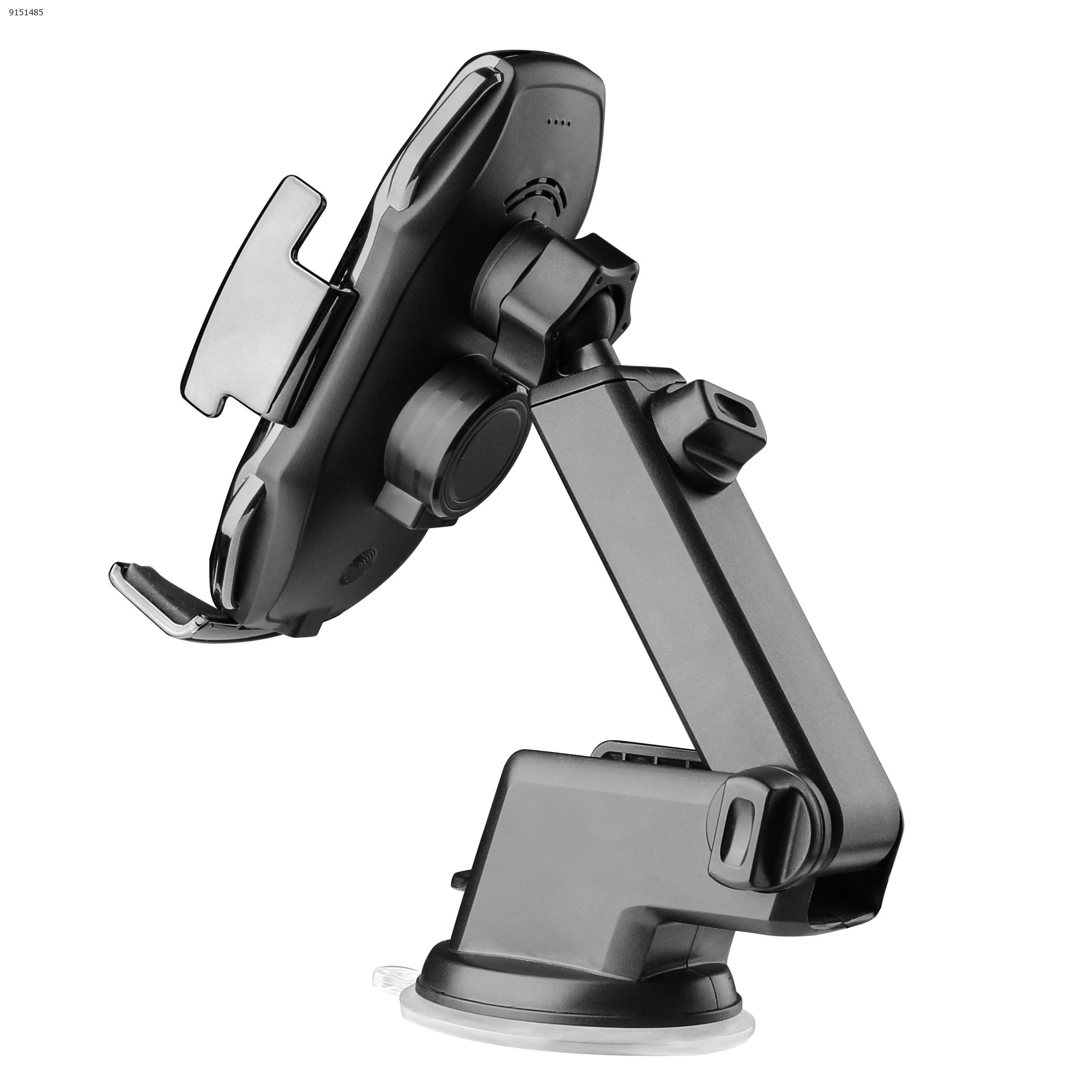 A5 Smart Sensor Car Wireless Charger +Suction Desktop Stand  Black Autocar Decorations A5