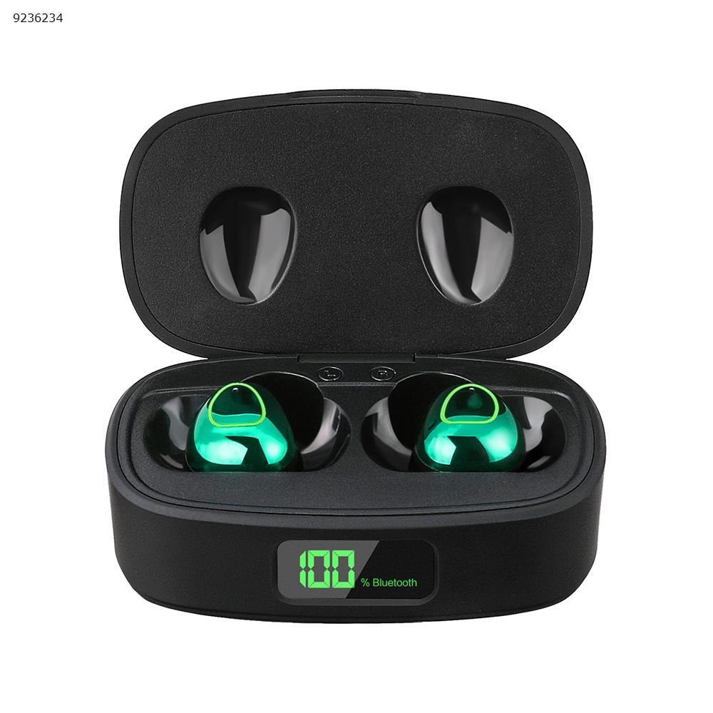 T10 Deep Noise Reduction Waterproof TWS Earbuds Wireless Earphones with Battery Level Display  colour:Dark Green Headset T10