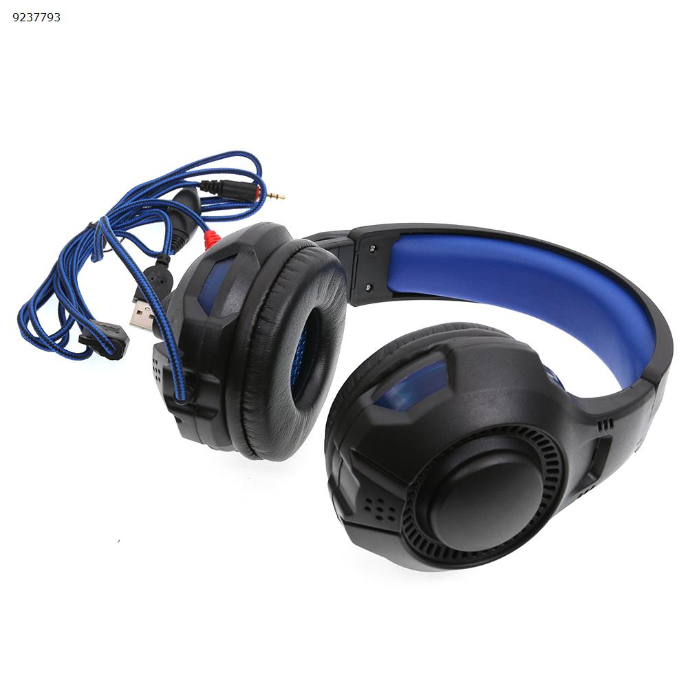 SY885MV light version game esports headset headset Internet cafe headset(Black and blue light) Headset SY885MV