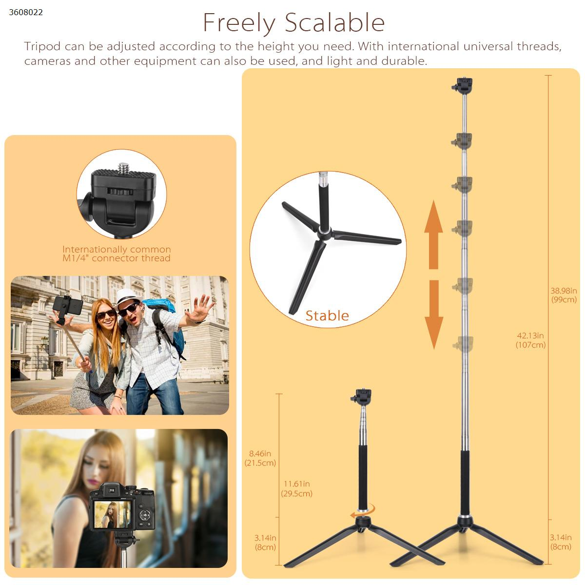 "6.3"" Dimmable LED Selfie Ring Light with Adjustable Tripod Stand Mobile Phone Mounts & Stands 020"