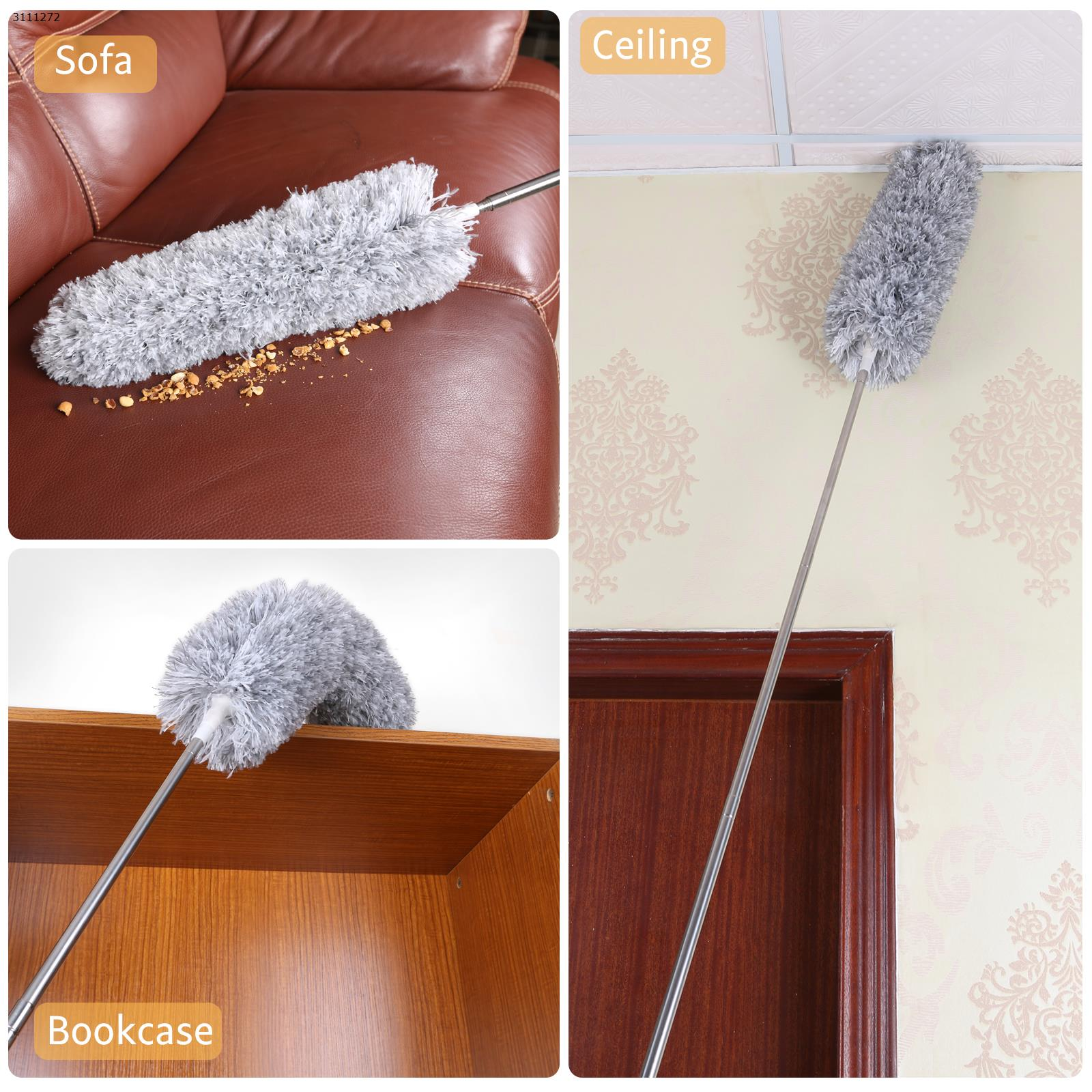 2.5m super long microfiber telescopic dust duster (carton pack) Home Decoration N/A