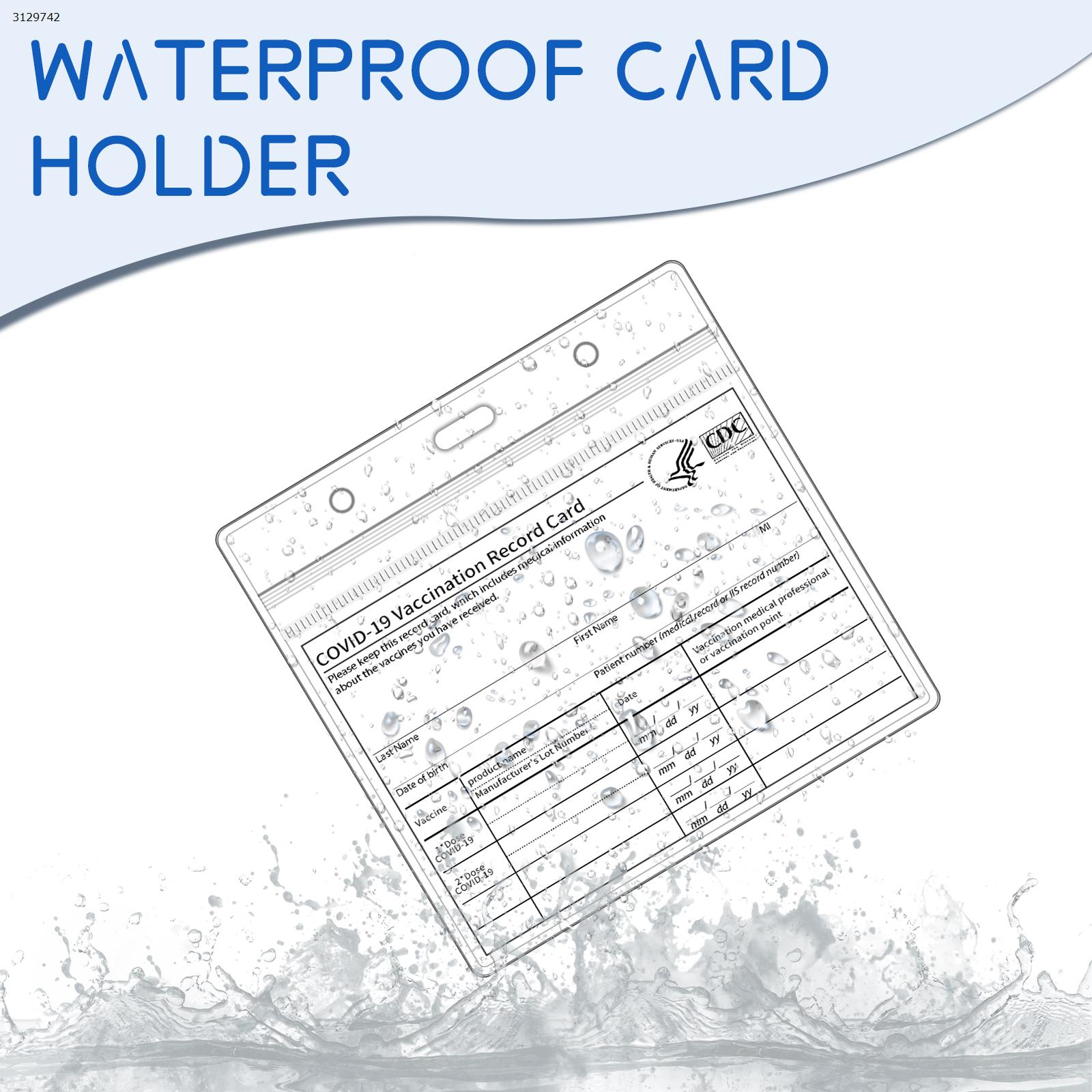 4.3*3.5 Transparent PVC Waterproof Card Holder (5pcs) Other N/A