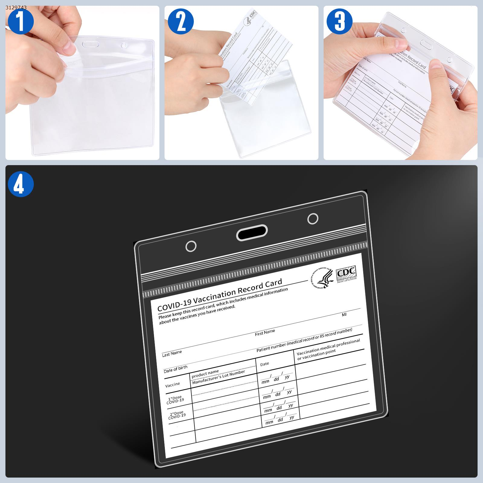 4.3*3.5 Transparent PVC Waterproof Card Holder (10pcs) Other N/A