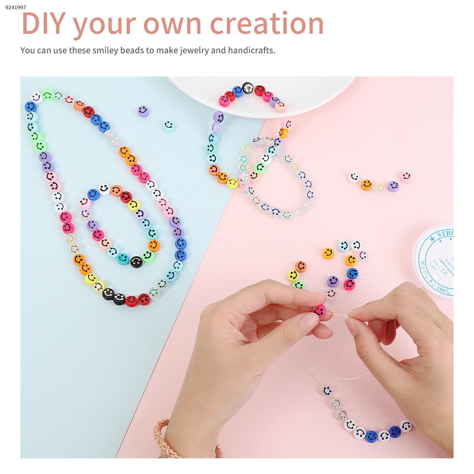 DIY accessories      100 beads + 1 plate 5m long line (1mm) Other N/A