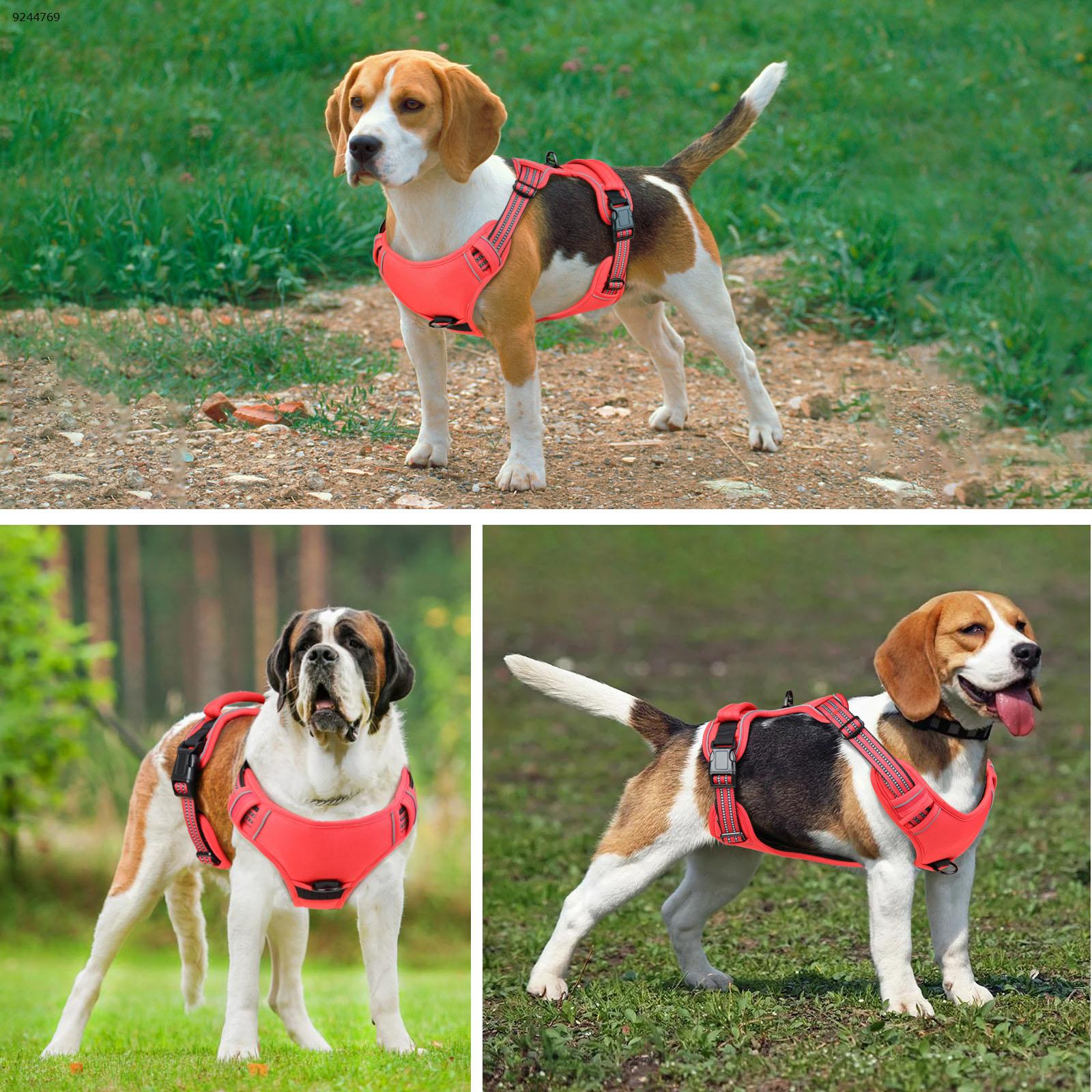 Red L size for dog walking strap (bust 47-86) Other N/A